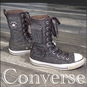 Auth Converse vtg high top canvas sneakers sz 6.5